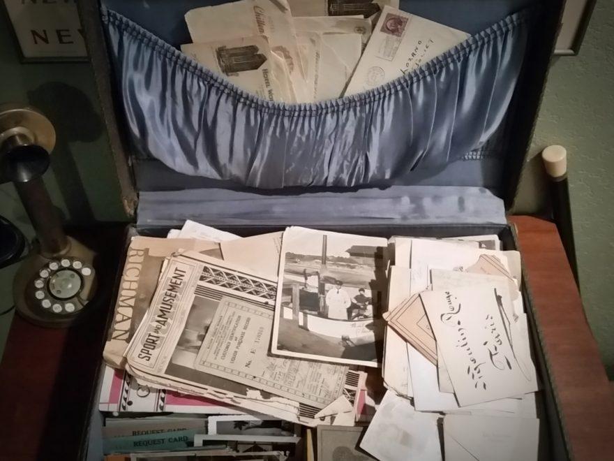 Suitcase full of ephemera